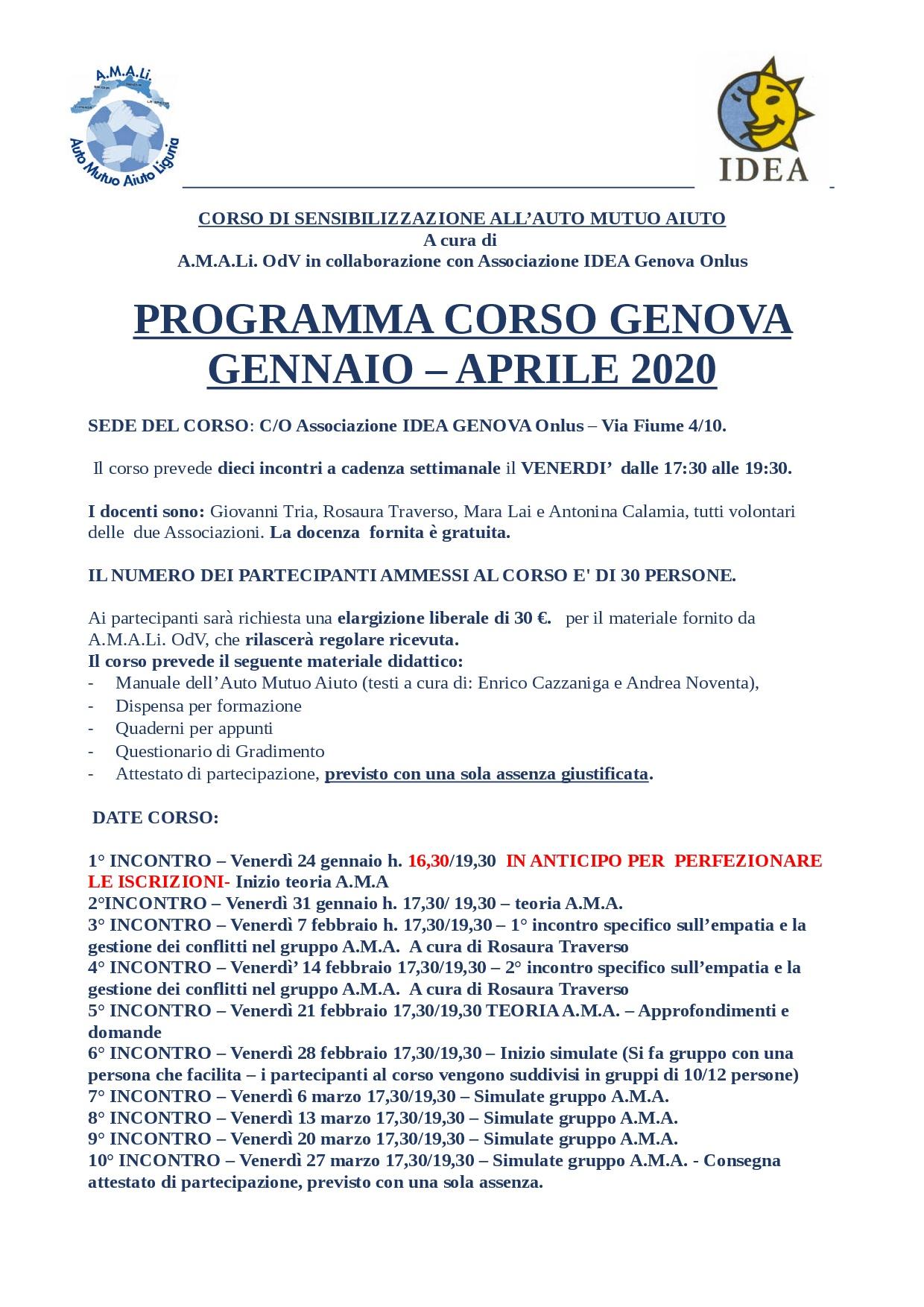 PROGRAMMA CORSO A.M..A. GENNAIO 2020-001